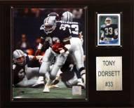 """Dallas Cowboys Tony Dorsett 12 x 15"""" Player Plaque"""