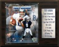 "Dallas Cowboys Troy Aikman 12"" x 15"" Career Stat Plaque"