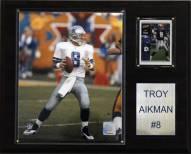 """Dallas Cowboys Troy Aikman 12 x 15"""" Player Plaque"""