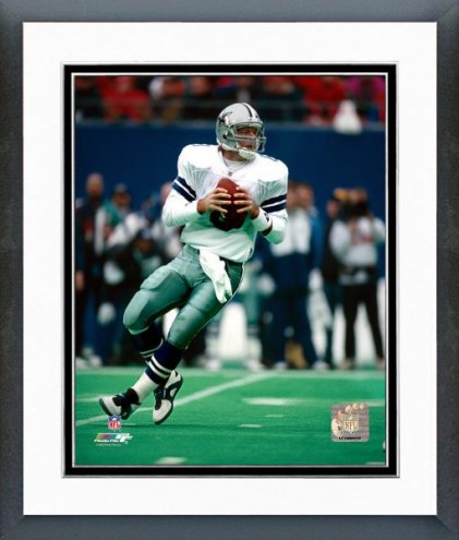 Dallas Cowboys Troy Aikman Dropping Back Framed Photo