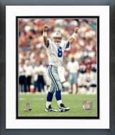 Dallas Cowboys Troy Aikman fists in air Framed Photo