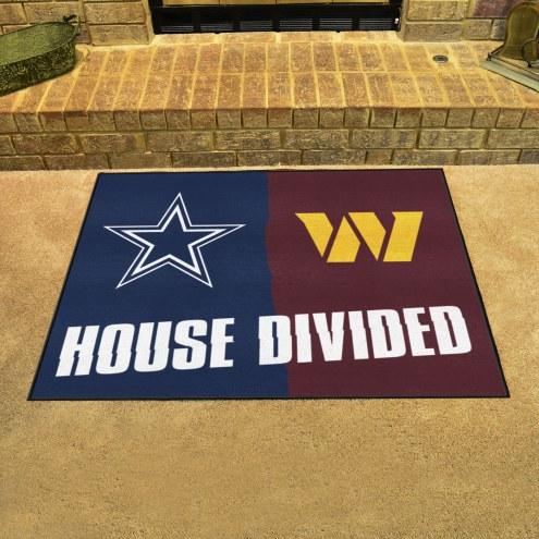 Dallas Cowboys/Washington Redskins House Divided Mat