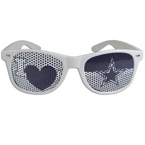 Dallas Cowboys White I Heart Game Day Shades