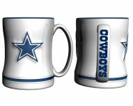 Dallas Cowboys White Sculpted Relief Coffee Mug