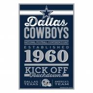Dallas Cowboys Established Wood Sign