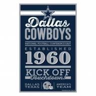 Dallas Cowboys Established Wood Sign