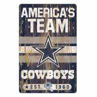 Dallas Cowboys Slogan Wood Sign