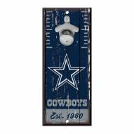 Dallas Cowboys Wood Bottle Opener