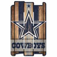 Dallas Cowboys Wood Fence Sign