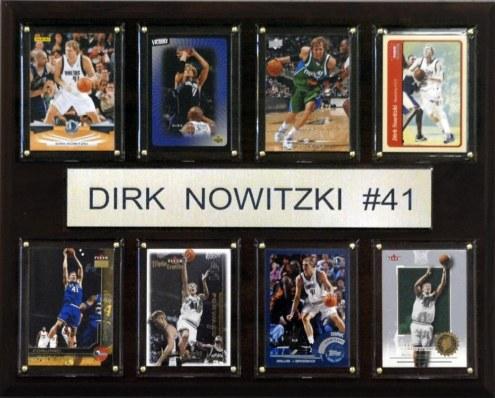 "Dallas Mavericks 12"" x 15"" Dirk Nowitzki 8 Card Plaque"