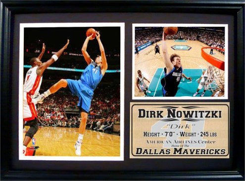"Dallas Mavericks 12"" x 18"" Dirk Nowitzki Photo Stat Frame"