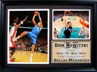 "Dallas Mavericks 12"" x 18"" Dirk Nowitzki Photo Stat Frame"