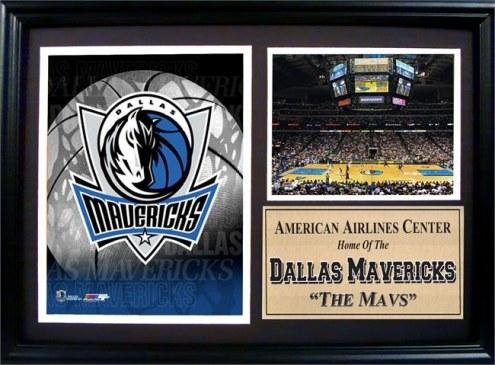 "Dallas Mavericks 12"" x 18"" Photo Stat Frame"