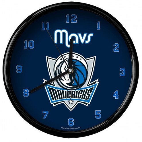 Dallas Mavericks Black Rim Clock