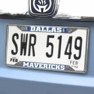 Dallas Mavericks Chrome Metal License Plate Frame