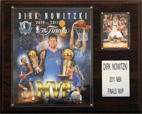 "Dallas Mavericks 12"" x 15"" Dirk Nowitzki 2011 NBA Finals MVP Plaque"