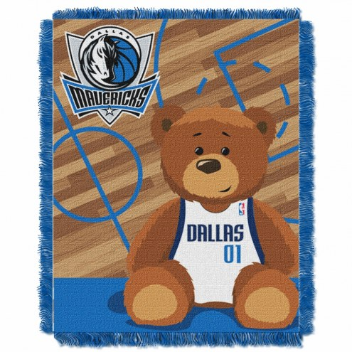 Dallas Mavericks Half Court Baby Blanket