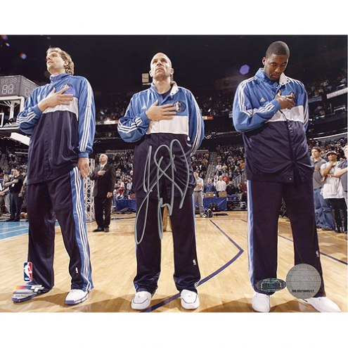 "Dallas Mavericks Jason Kidd First Game Back National Anthem Signed 16"" x 20"" Photo"