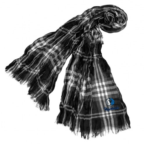 Dallas Mavericks Plaid Crinkle Scarf