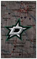 """Dallas Stars 11"""" x 19"""" City Map Sign"""