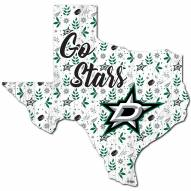 """Dallas Stars 12"""" Floral State Sign"""