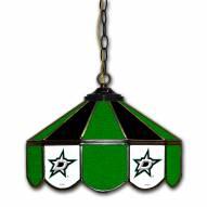 """Dallas Stars 14"""" Glass Pub Lamp"""