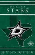 "Dallas Stars 17"" x 26"" Coordinates Sign"