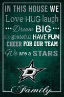 """Dallas Stars 17"""" x 26"""" In This House Sign"""