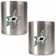 Dallas Stars 2-Piece Stainless Steel Can Koozie Set - Primary Logo