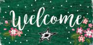 """Dallas Stars 6"""" x 12"""" Floral Welcome Sign"""