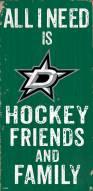 """Dallas Stars 6"""" x 12"""" Friends & Family Sign"""