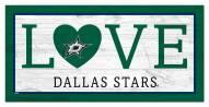 """Dallas Stars 6"""" x 12"""" Love Sign"""