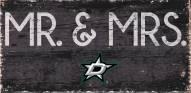 """Dallas Stars 6"""" x 12"""" Mr. & Mrs. Sign"""