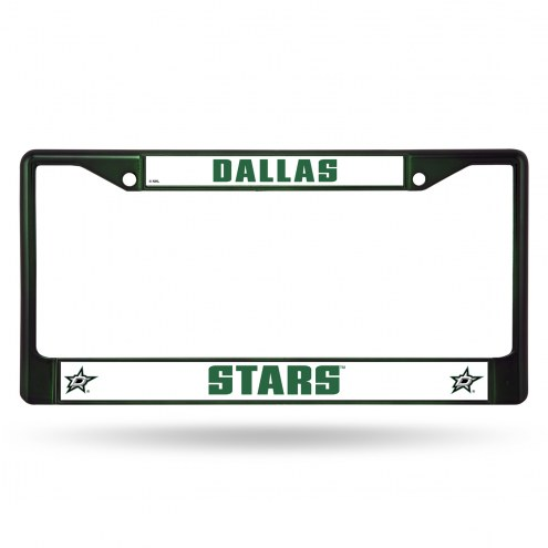 Dallas Stars Colored Chrome License Plate Frame