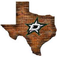 Dallas Stars Distressed State with Logo Sign