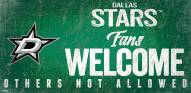Dallas Stars Fans Welcome Sign