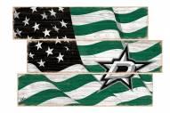 Dallas Stars Flag 3 Plank Sign