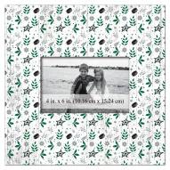 """Dallas Stars Floral Pattern 10"""" x 10"""" Picture Frame"""