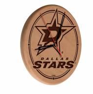 Dallas Stars Laser Engraved Wood Clock