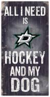 Dallas Stars Hockey & My Dog Sign