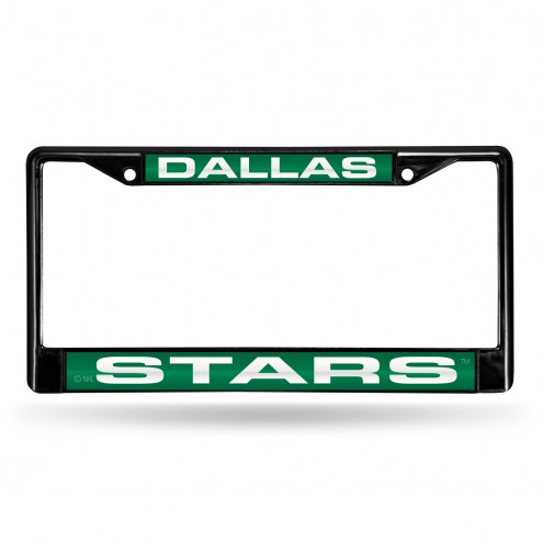 Dallas Stars Laser Black License Plate Frame