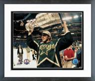Dallas Stars Mike Modano with the Stanley Cup Framed Photo