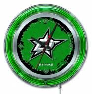 Dallas Stars Neon Clock
