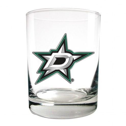 Dallas Stars NHL Rocks Glass - Set of 2
