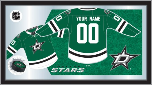 Dallas Stars Personalized Jersey Mirror