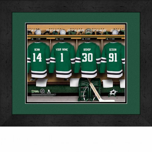 Dallas Stars Personalized Locker Room 13 x 16 Framed Photograph