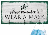 Dallas Stars Please Wear Your Mask Sign