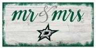 Dallas Stars Script Mr. & Mrs. Sign