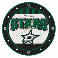 Dallas Stars Stained Glass Wall Clock
