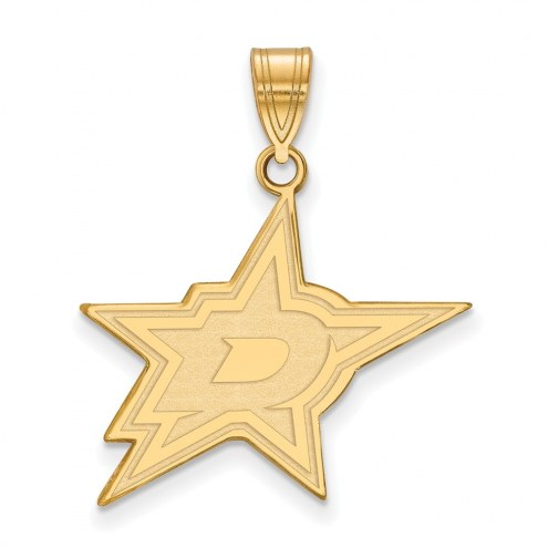 Dallas Stars Sterling Silver Gold Plated Large Pendant